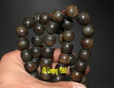 tibetan yak horn buddhist old ox worry prayer bead mala rosary nepal necklace e2