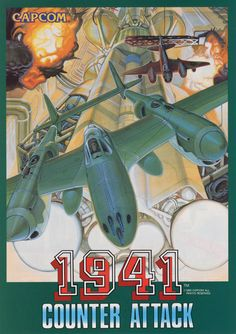 1941: Counter Attack, Capcom, 1991, Japanese flyer.