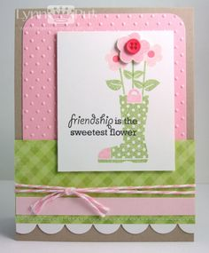 Hello there!  Today I have two cards that I've created using the colors from the CR84FN31 Color Challenge  and the Papertrey Ink stamp set G...