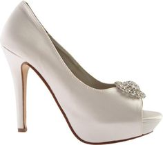 LIZ RENE COUTURE WOMEN'S DORIS PLATFORM PUMP,WHITE SILK SATIN,7 M US  - Click image twice for more info - See a larger selection of bridal shoes at   http://zweddingsupply.com/product-category/bridal-shoes/ - woman , wedding , wedding fashion, wedding style, wedding ideas, woman fashion, shoes.