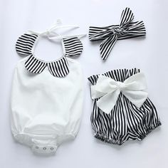 Baby Girl Polar Baby Jumpsuit (3-pc set) and Bow - tinybundlesofjoy
