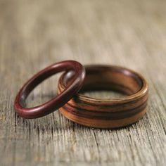 Wooden wedding bands. #wooden #wedding #bands