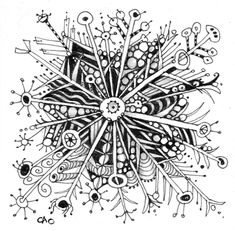 Snowflake Zentangle by Carole Ohl.  I want to try Zentangle-this looks like a fun and relaxing way to be creative!
