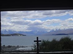 A view of Lake Tekapo from the Church of the Good Shepard. I'm not religious, but if I had to go to a church, this would be it | South Island, New Zealand