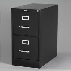 "Amazon.com: Hirsh Industries LLC 22"" Deep 2 Drawer Letter File Cabinet in Black: Office Products"