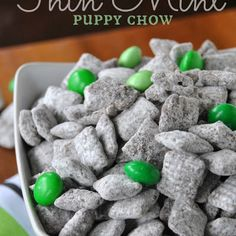 Thin Mint Puppy Chow @keyingredient #chocolate