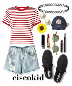 """ciscokid"" by ashlynturnup ❤ liked on Polyvore featuring Miss Selfridge, Chicnova Fashion, Keds, Lancôme, Chanel, Hollister Co. and Carolee"