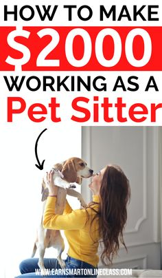 Do you love pets? Awesome! Here is how to become a dog sitter on Rover and make money from home. You can offer pet care services and earn good money while doing what you love! This is a perfect side hustle especially for loners. #workfromhome #sidehustles #makemoney #workathomejobs #careersfromhome #earnmoney #extracash Work From Home Jobs, Make Money From Home, Way To Make Money, How To Make, Love Pet, Extra Cash, Pet Care, Earn Money, How To Become