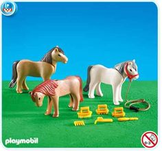 $11.99 Playmobil 7435 3 Ponies with Accessories  From PLAYMOBIL®   Get it here: http://astore.amazon.com/toys4kids09-20/detail/B002LIQS28/175-6158416-3122017