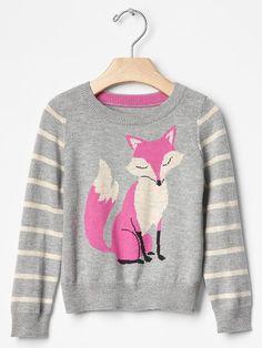 Intarsia fox stripe sweater Product Image