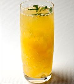 Mandarin punch #drinks, #nonalcoholic, #citrus, #ginger