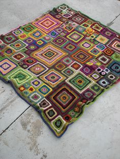 Ravelry: Babette Blanket pattern by Kathy Merrick; with all your yarns..fuzzy, funky..make this!