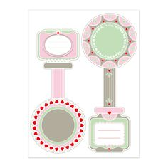 Free Printable Tags, Free Printables, Watermelon Background, Canning Labels, How To Make Jam, Paper Flowers Diy, Free Prints, Journal Cards, Banner Design