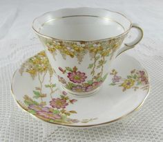 Vintage Bone China Colclough Floral Tea Cup and Saucer