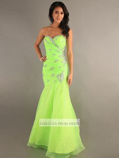 2013 Style Trumpet / Mermaid Sweetheart Beading Sleeveless Floor-length Organza Prom Dresses / Evening Dresses (SZ0305711) - FabulousPromDress.com