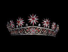 Ruby and diamond star tiara