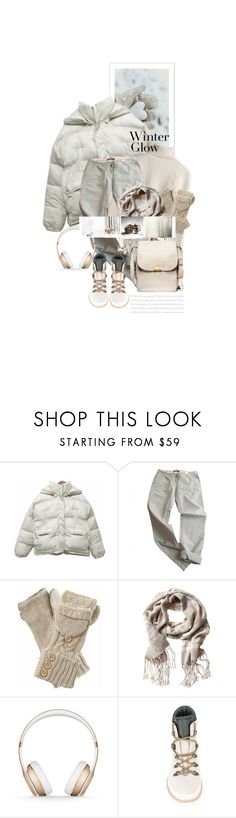 """""""Les Pieds Heureux Dans La Neige / Happy Feet In The Snow"""" by halfmoonrun ❤ liked on Polyvore featuring Maison Scotch, Banana Republic, Beats by Dr. Dre, Rossignol, Marni and puffers"""