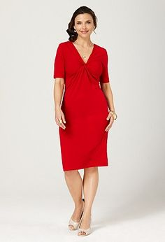 Knot front dress