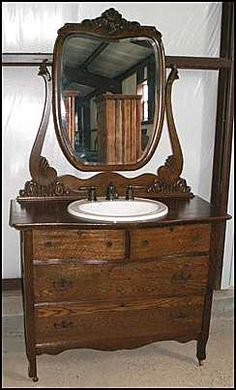 I have a dresser similar to this, almost twice as wide.  Think I could sacrifice it to make a sink like this.