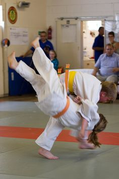 Sport #7: Judo- I didn't last long at Judo. For one thing we spent the entire time trying to get the other person on the ground. But mostly... the teacher broke my arm so i quit