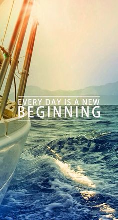 ↑↑TAP AND GET THE FREE APP! QuotesNature Every Day Is A New Beginning Hipster Sea Sailing Waves Ocean Inspiration HD iPhone 6 Wallpaper