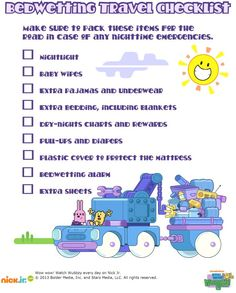 Everything a busy parent needs to battle bedwetting away from home.
