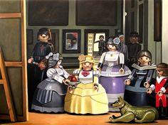Un peintre recrée les tableaux les plus célèbres avec des Playmobils - Les Ménines, #Velasquez #playmobil #artketing