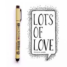 Lots of love #lettering #handlettering #paperfuel