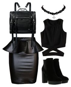 """""""Black"""" by huldinhared on Polyvore featuring moda, Hogan e McQ by Alexander McQueen"""