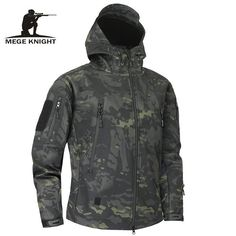 6037d45645c16 Mege Shark Skin Soft Shell Military Tactical Jacket Men Waterproof Army  Fleece Clothing Multicam Camouflage Windbreakers 4Xl