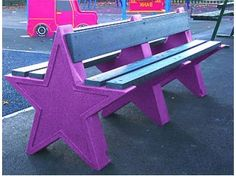 Outdoor Star Bench Dimensions Person) - High x Length x Depth Dimensions Person) - High x Length x Depth Maintenance free Ready assembled Supplied with ground fixing bolts for hard surfaces Hygienic &a Picnic Table, Recycled Materials, The Struts, Recycling, Patio Tables, Projects To Try, Bench, Table Designs, Stars