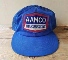 13ca90ca112 Vintage 1980s AAMCO Transmissions Trucker Hat Mesh Snapback Cap Made in USA   BaseballCap Strapback Hats