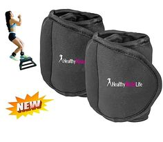 Ankle Weights Set by Healthy Model 1lb Set Adjustable Leg Sport Running Fitness #HealthyModelLife