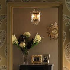 Berwick Glass and Brass Pendant Light