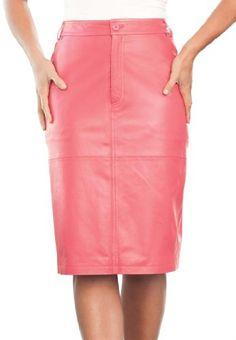 Jessica London Plus Size Leather Pencil Skirt