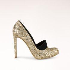 Pale Gold  Black Dewhurst Glitter Pump 115mm... Stella McCartney. I love 835e2b64287