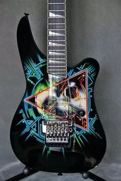 Really Cool - Def Leppard Hysteria guitar Guitar Painting, Guitar Art, Music Guitar, Cool Guitar, Playing Guitar, Guitar Tattoo, Guitar Pics, Guitar Logo, Guitar Chords
