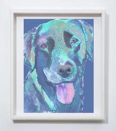 Labrador dog art print Colorful abstract aqua marine dog portrait Aqua… #dogmom… visit oscarjetson.com to see cool dog art oscarjetson.com