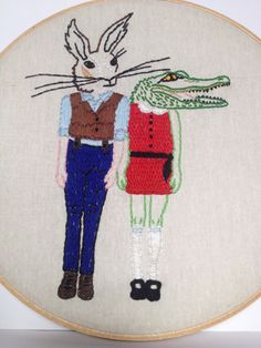 YT Sumner embroiders horror movies and pop culture icons.