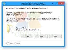 """Windows 8 ve 10: """"Klasör Değiştirmeyi Onayla"""" Penceresini Devre Dışı Bırakmak"""