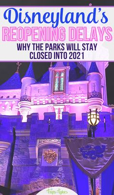 Disneyland's hoped for 2020 reopening has been delayed yet again. Find out all about California's new theme park reopening guidelines and why they mean the Happiest Place on Earth may well not open until summer 2021 or even later! Disneyland Resort California, Hong Kong Disneyland, Tokyo Disneyland, Disney Gift, Disney Crafts, Disney World Resorts, Walt Disney World, New Theme, Disney Cruise