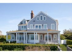 Nantucket via Cote de Texas Nantucket Style Homes, Cape Style Homes, Nantucket Beach, Shingle Style Homes, Nantucket Island, Seaside, House Front, My House, Dream Beach Houses
