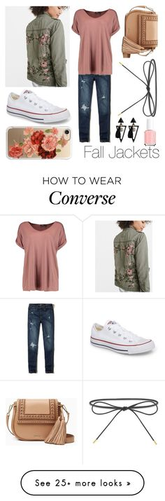 """Fall Jackets"" by amber-lanehart on Polyvore featuring Abercrombie & Fitch, Hollister Co., Converse, Boohoo, Kate Spade, Elizabeth and James, Casetify and falljackets"