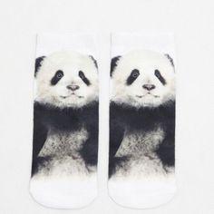 New Women Socks 3D Print Low Socks 12 Pattern Fashion Kawaii Animal Dog Lion Panda Rabbit Funny Casual Socks Xmas Socks