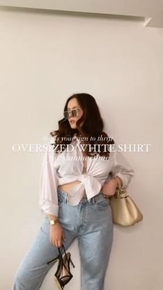 lindsrosso on Instagram: This is your sign to thrift an oversized white shirt for your summer #ootd's! 🤍 There are a million ways to wear a white shirt but here… Oversized White Shirt, The Cardigans, Summer Ootd, Thrifting, Mom Jeans, Fashion Tips, Fashion Trends, Sign, Womens Fashion