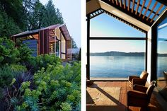"Seattle-based design studio Graypants Studio transformed a detached garage from a cluttered storage space into an airy waterfront retreat. Simply called ""The Garage"", the glass clad building can b… Restauration Garage, Tiny House, Seattle, Vashon Island, Old Garage, Modern Garage, Garage Remodel, House Blueprints, Restaurant"