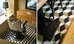 Cubic cement tiles pattern #mosaicdelsur #cementtiles