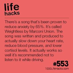 This Song Reduces Anxiety Life Hacks) Dieses Lied reduziert die Angst 1000 Lebenshacks Simple Life Hacks, Useful Life Hacks, Cool Hacks, Organization Ideas For The Home Diy, School Life Hacks, College Life Hacks, School Ideas, 1000 Lifehacks, Bulletins