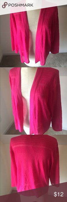NEW Apt 9 XL cardigan NEW apt 9 XL cardigan, pink with 3/4 length sleeve Apt. 9 Tops