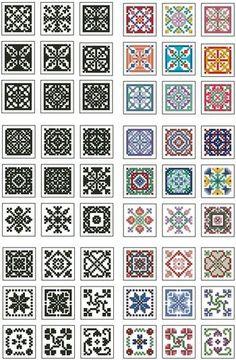 Mini Biscornu Cross Stitch Collection 2 by ester Biscornu Cross Stitch, Mini Cross Stitch, Cross Stitch Borders, Cross Stitch Charts, Cross Stitch Designs, Cross Stitching, Cross Stitch Embroidery, Embroidery Patterns, Cross Stitch Patterns